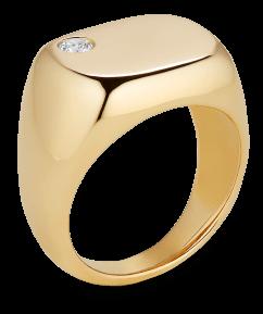G. LABEL SYDNEY FLOATING-DIAMOND PINKIE RING, goop, $ 1,300