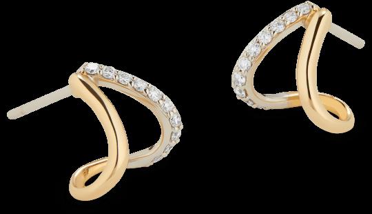 G. Label Emily Gold Gold and Pavé Split Earrings, goop, $ 895;