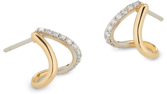 G. Label Emily Yellow Gold and Pavé Split Earrings goop, $895