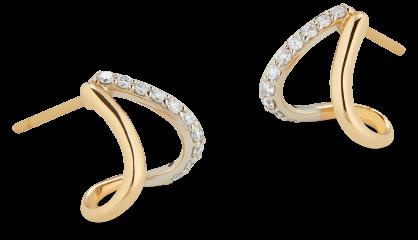 G. Label Emily Yellow Gold and Pavé Split Earrings, goop, $895