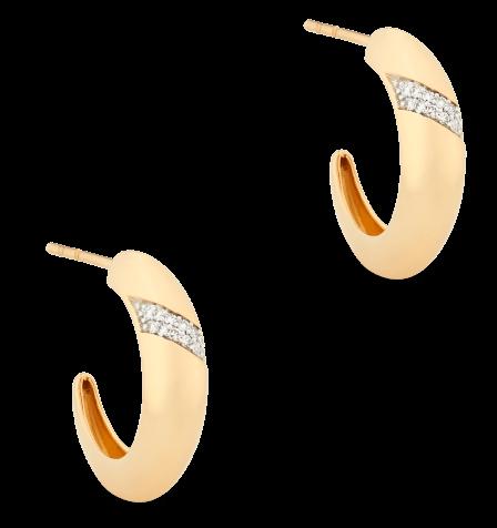 goop x Mejuri Pavé diamond dome hoops