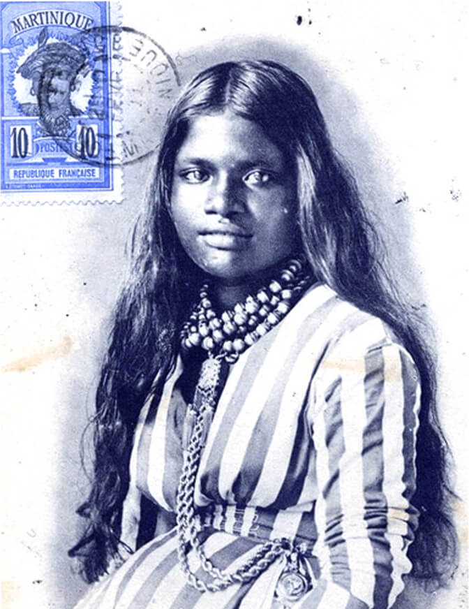 woman posing connected  a postcard