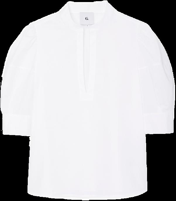 G. LABEL Oz Puff-Sleeve Blouse, goop, $375