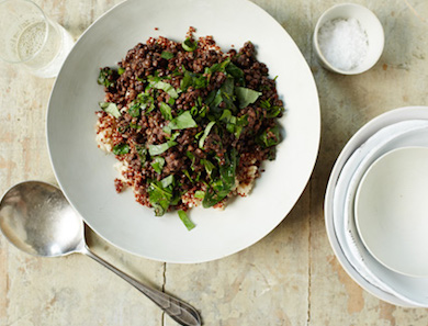 Puy Lentil and Wilted Spinach Bowl