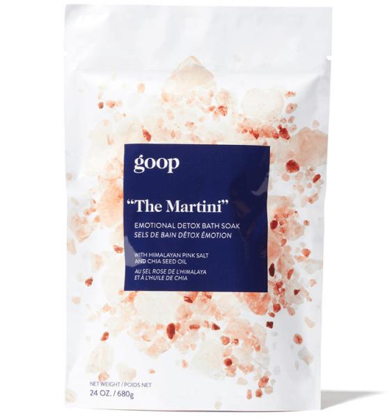 "goop Beauty ""The Martini"" Emotional Detox Bath Soak, goop, $35"