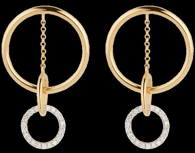 Apple Circle Pavé Drop Earrings G. Label, $1,450