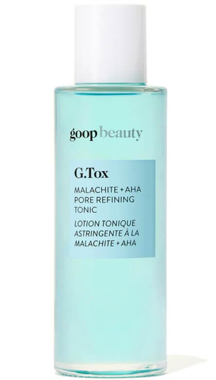 goop Beauty G.Tox malachite + AHA pore cleansing tonic