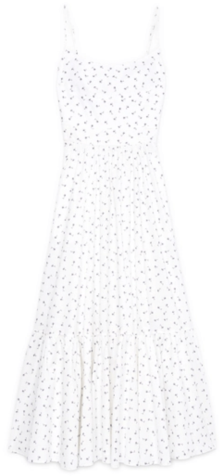 Mr. Label Theodora Bustier tea-length dress