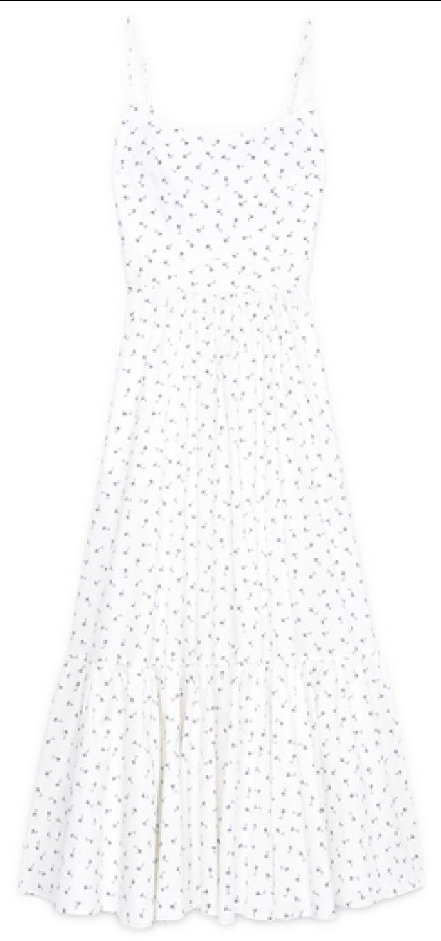 G. Label Theodora tea-length bustier dress