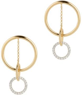 G. Label Apple Circle Pavé Drop Earrings goop, $1,450