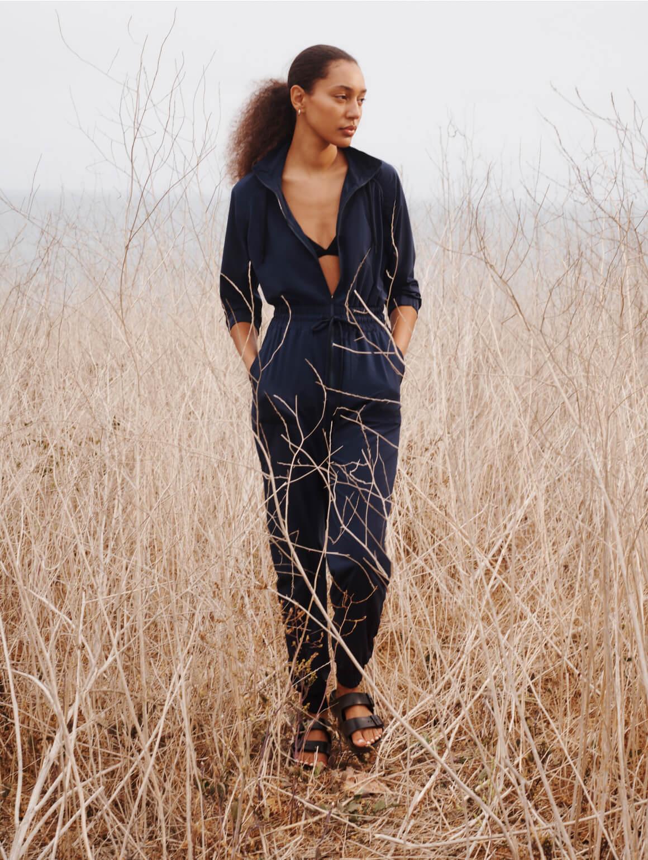 woman posing on a field