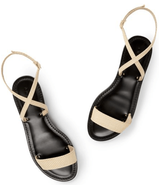 Amanu Black-Soled Sandals, goop, $325