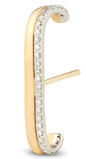G. Label Fiene Yellow Gold and pavé receptor  cuff