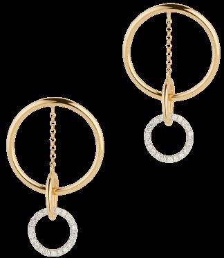 G. Label Apple ellipse  pavé driblet  earrings