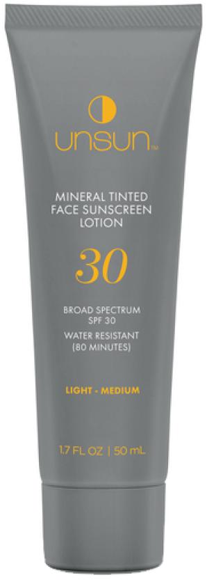 Unsun Tinted Mineral Face Sunscreen, goop, $ 29