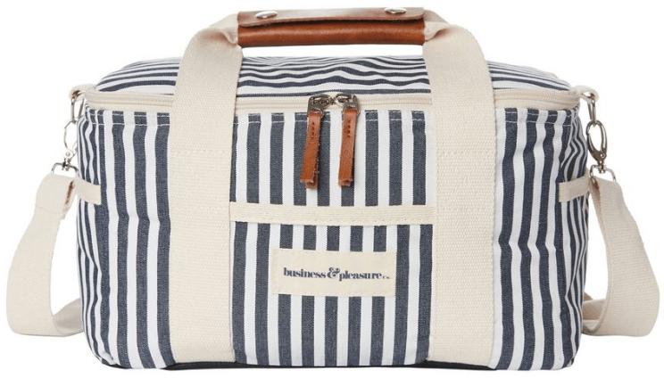 Business & Pleasure Co. Premium Cooler successful  Laurens Navy Stripe, goop, $79