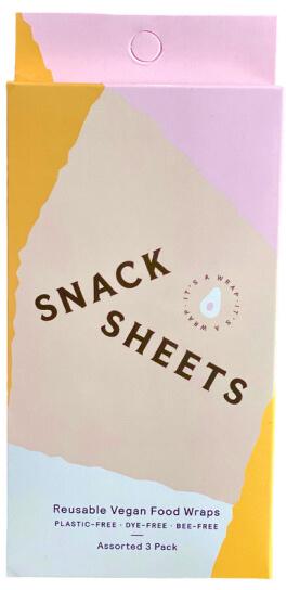 Snackheet Vegan Snackwraps for multiple use