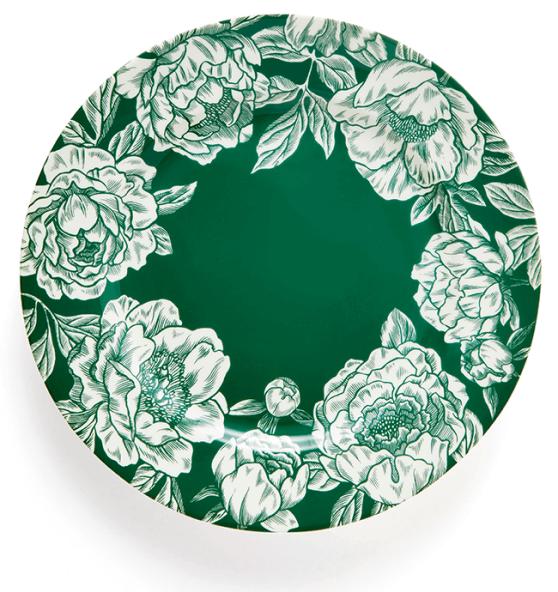 goop x Social Studies Dinner Plate in Baroque Green, goop, $45