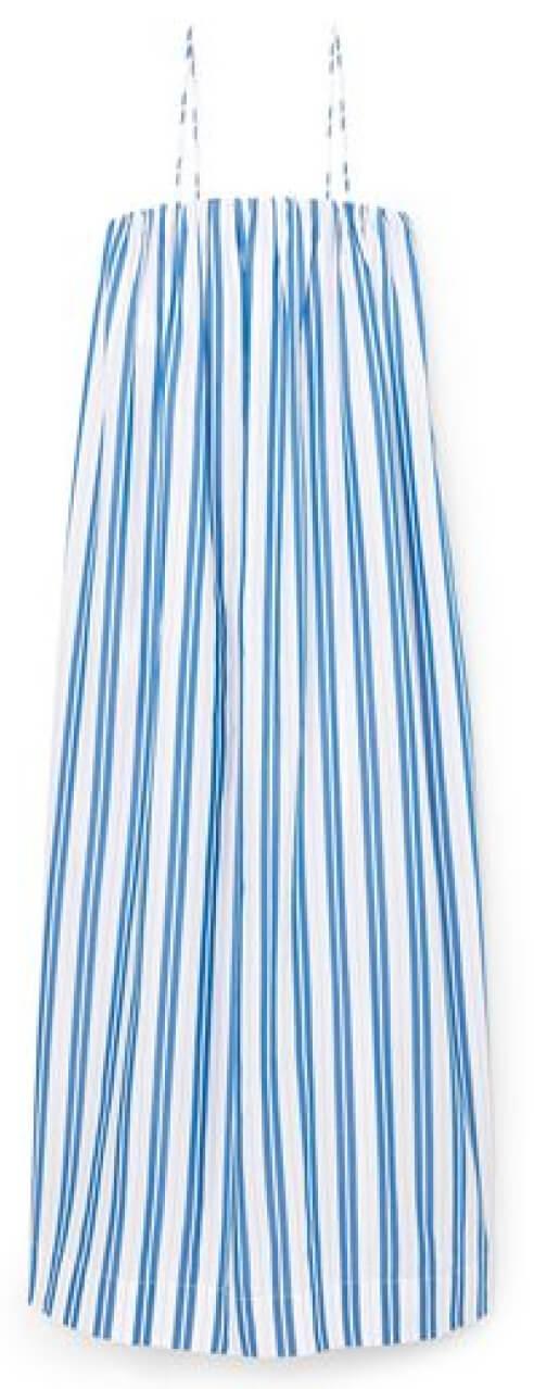 Ganni Striped Cotton Dress