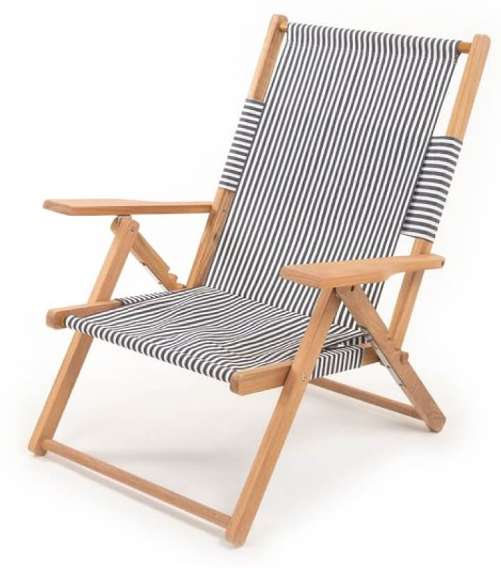 Business & Pleasure Co. Tommy Chair successful  Laurens Navy Stripe