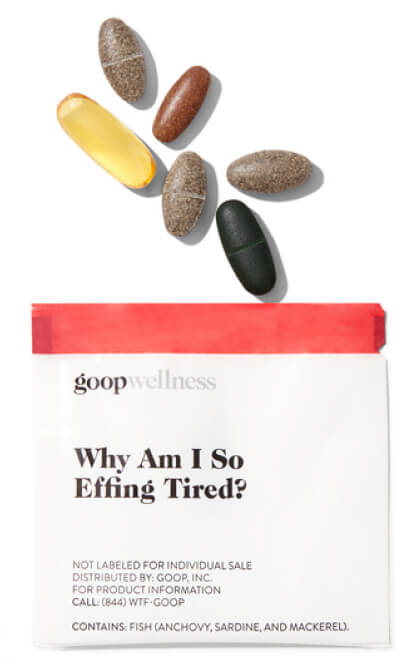 goop Wellness WHY AM I SO EFFING TIRED? goop, $90/$75 with subscription