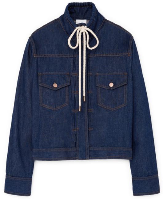 G. Label Diaz Utility Jean Jacket goop, $425