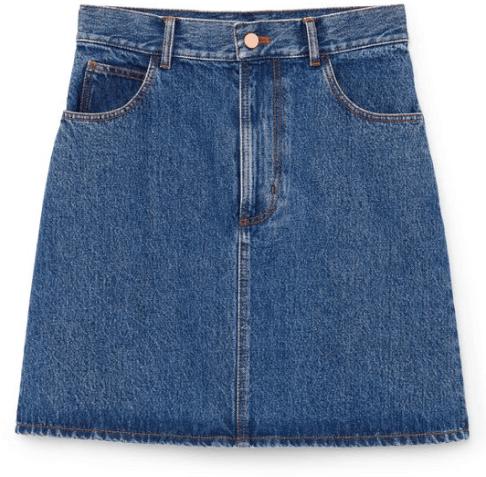 G. Label Harlow A-Line Denim Miniskirt goop, $275
