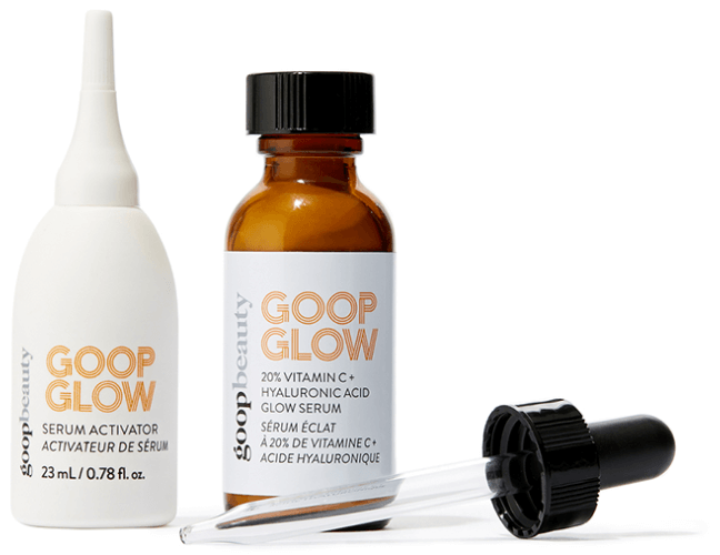 goop Beauty GOOPGLOW 20% vitamin C + serum for hyaluronic acid shine, goop, 125 USD / 112 USD with subscription