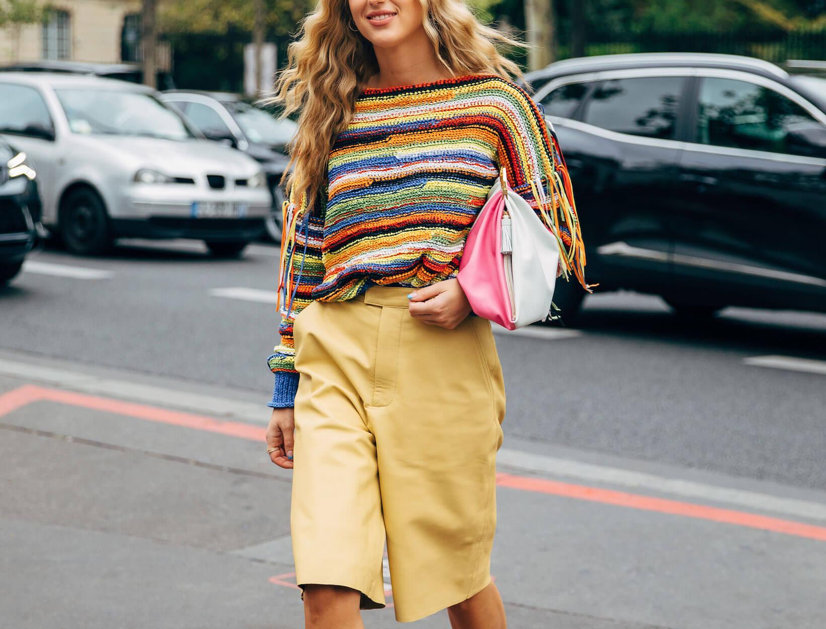 woman successful  knit sweater