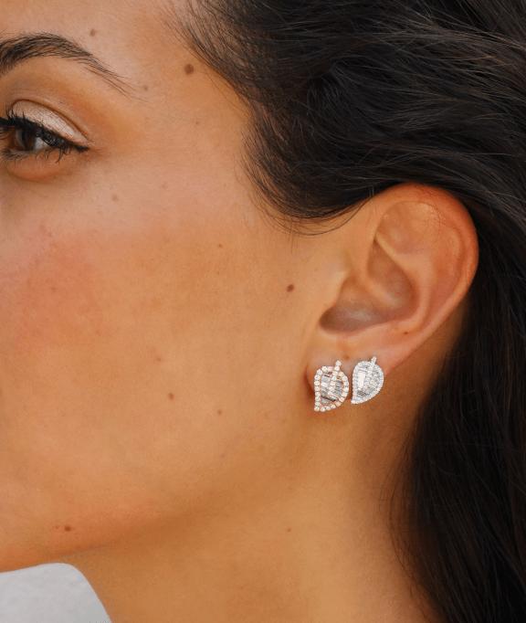 model with earrings