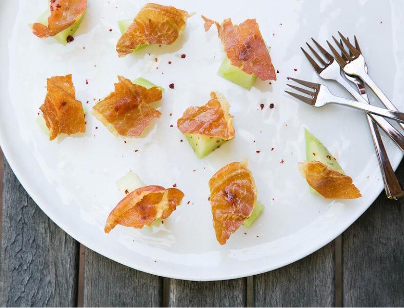Summer Melon with Crispy Prosciutto