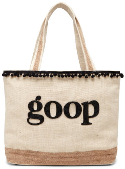 Island to East Side PERSONALIZED BEACH TOTE goop, $193