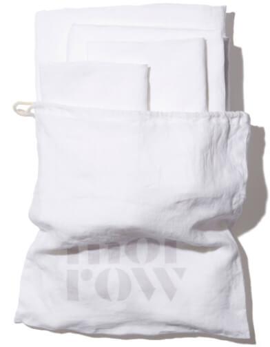 Morrow Heirloom French Linen Sheet Set goop, $275