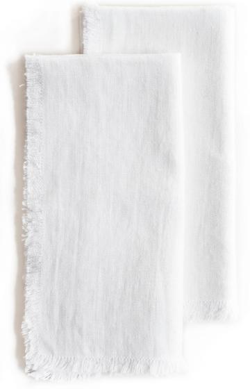 Roman and Williams               Fringed Flax Linen Napkin Set