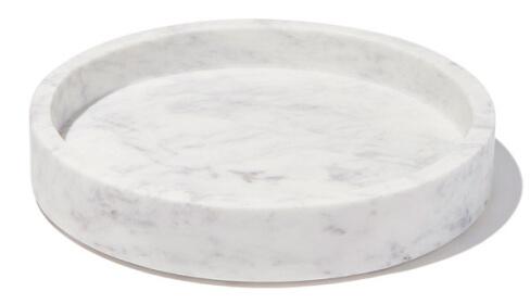 Caravan Marble Petite Round Tray goop, $50
