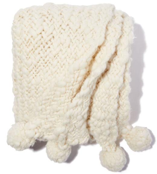 Sien + Co Nube Handwoven Throw goop, $470