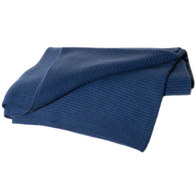 Hangai Cashmere Ribbed Knit Throw goop, $840