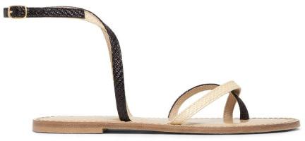 Amanu Beige Strappy Sandals