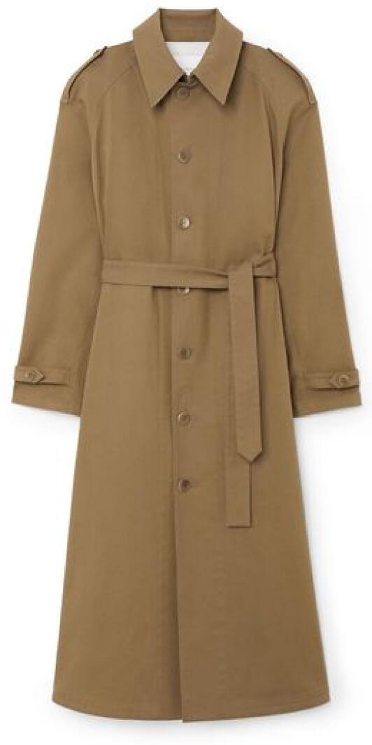 Maria McManus trench coat