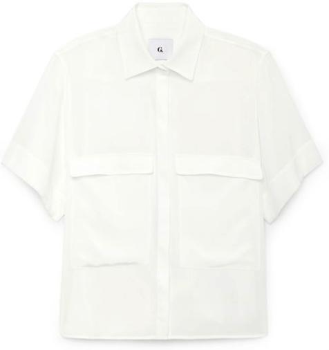 G. Label Blau Button-Up Top goop, $425