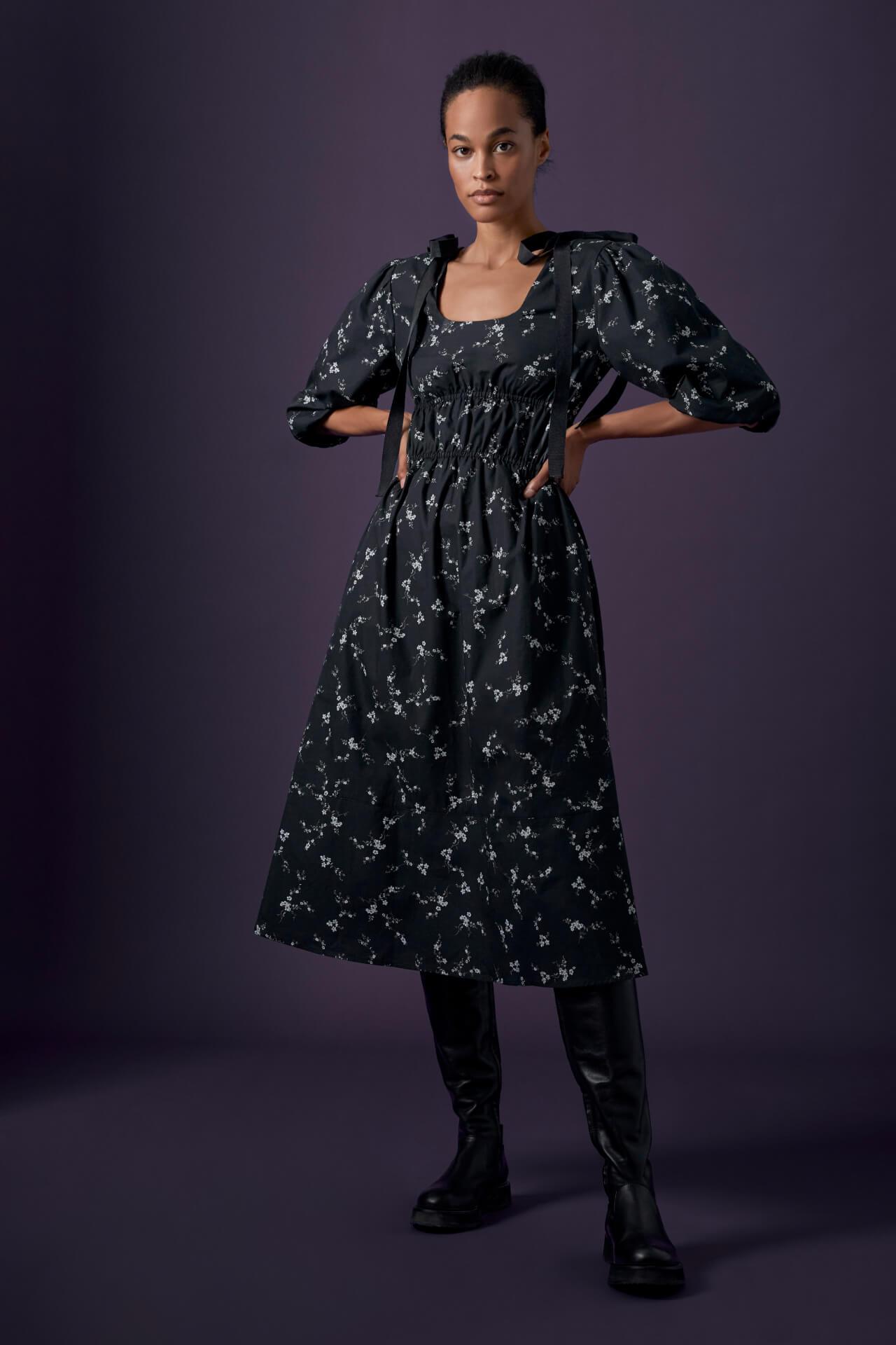 Beverly Midlength Bow Dress
