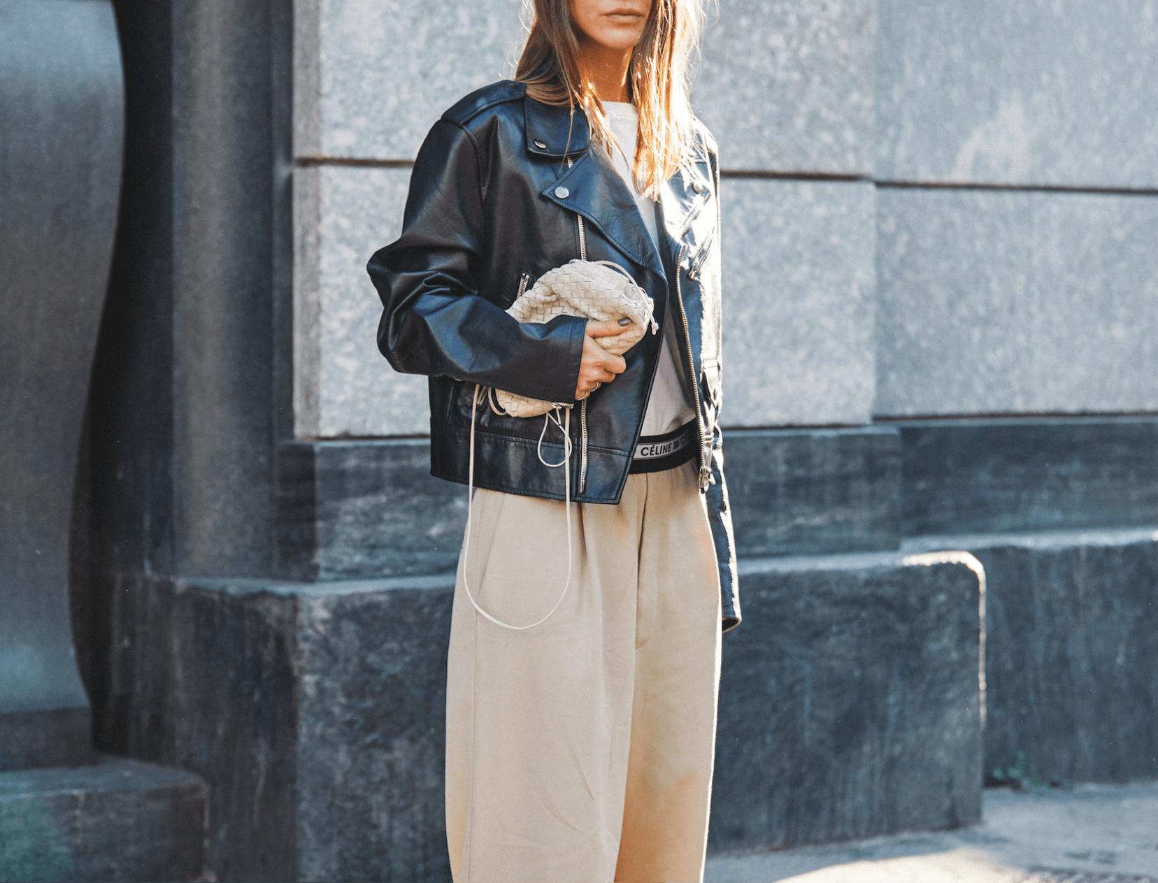 مدل مدل ژاکت چرم آستین پفی مارگارت با برچسب g