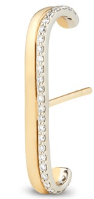 G. Label Fiene Yellow Gold and Pavé Ear Cuff