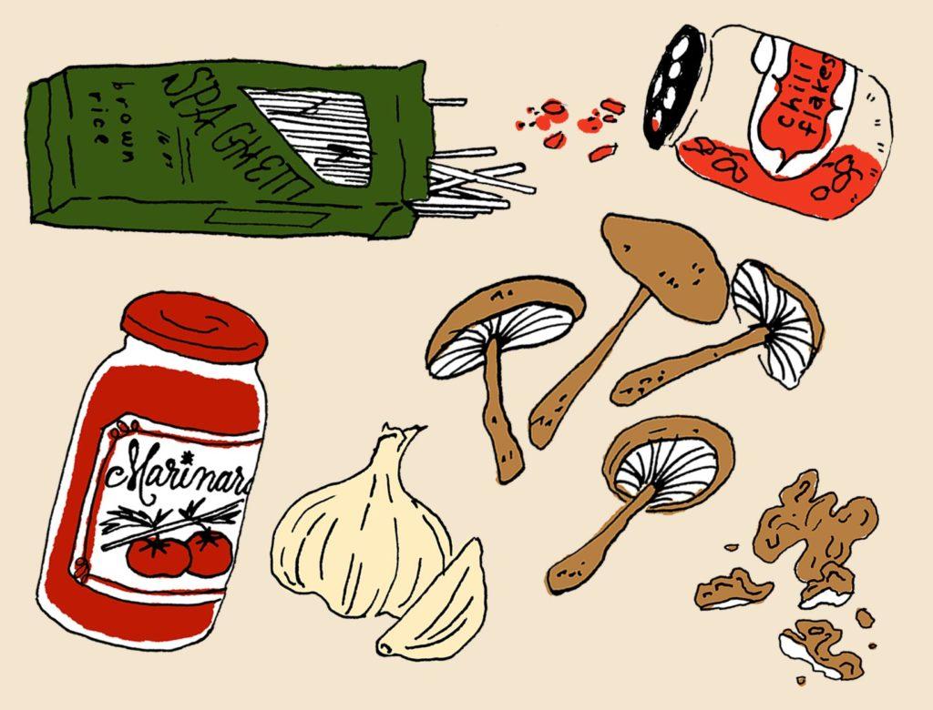 Walnut Mushroom Bolognese