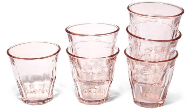 Caravan Bistro Glasses, Set of 6 in Blue, goop, $68