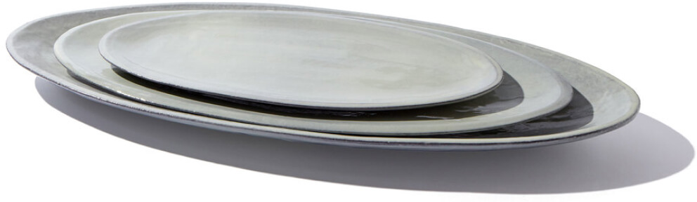 Il Buco Vito Assisi Nested Oval Platters, Set of 3, goop, $300