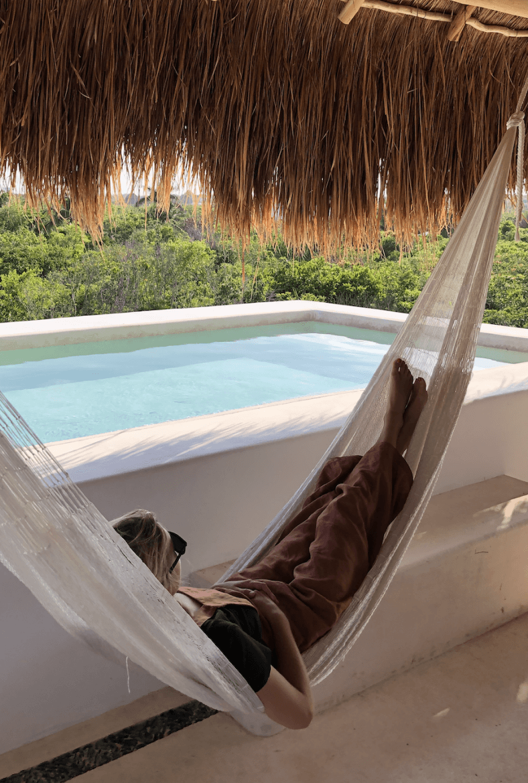 kiki on a hammock