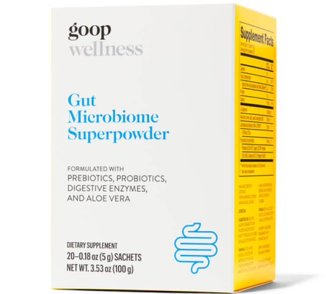goop Wellness GUT MICROBIOME SUPERPOWDER goop, $55/$50 with subscription