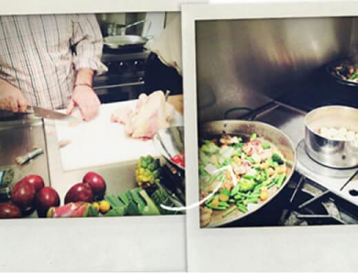 مرغ و سبزیجات پائائلا