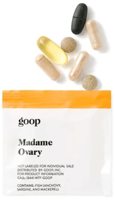 goop Wellness MADAME OVARY goop, with a $ 95 / $ 75 subscription